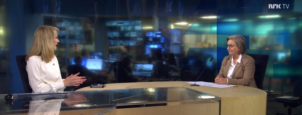 Skjermdump fra intervju med NRK 31.12.21