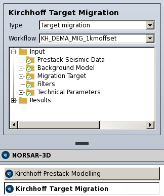 Kirchhoff Target Migration Workflow