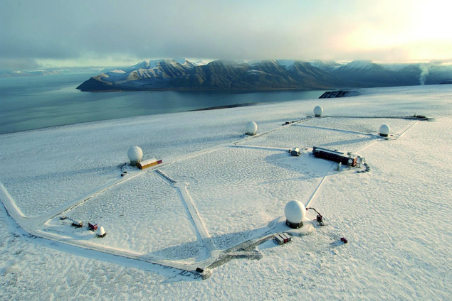 Platåberget in Spitsbergen hosting the Radionuclide station