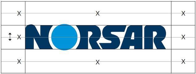 NORSAR logo spacing