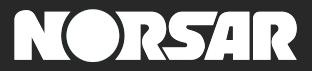 NORSAR logo negative