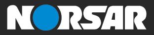 NORSAR logo negative colored