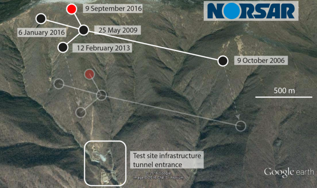 North Korea nuclear test site september 2016