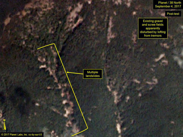 38 North image from North Korea test site