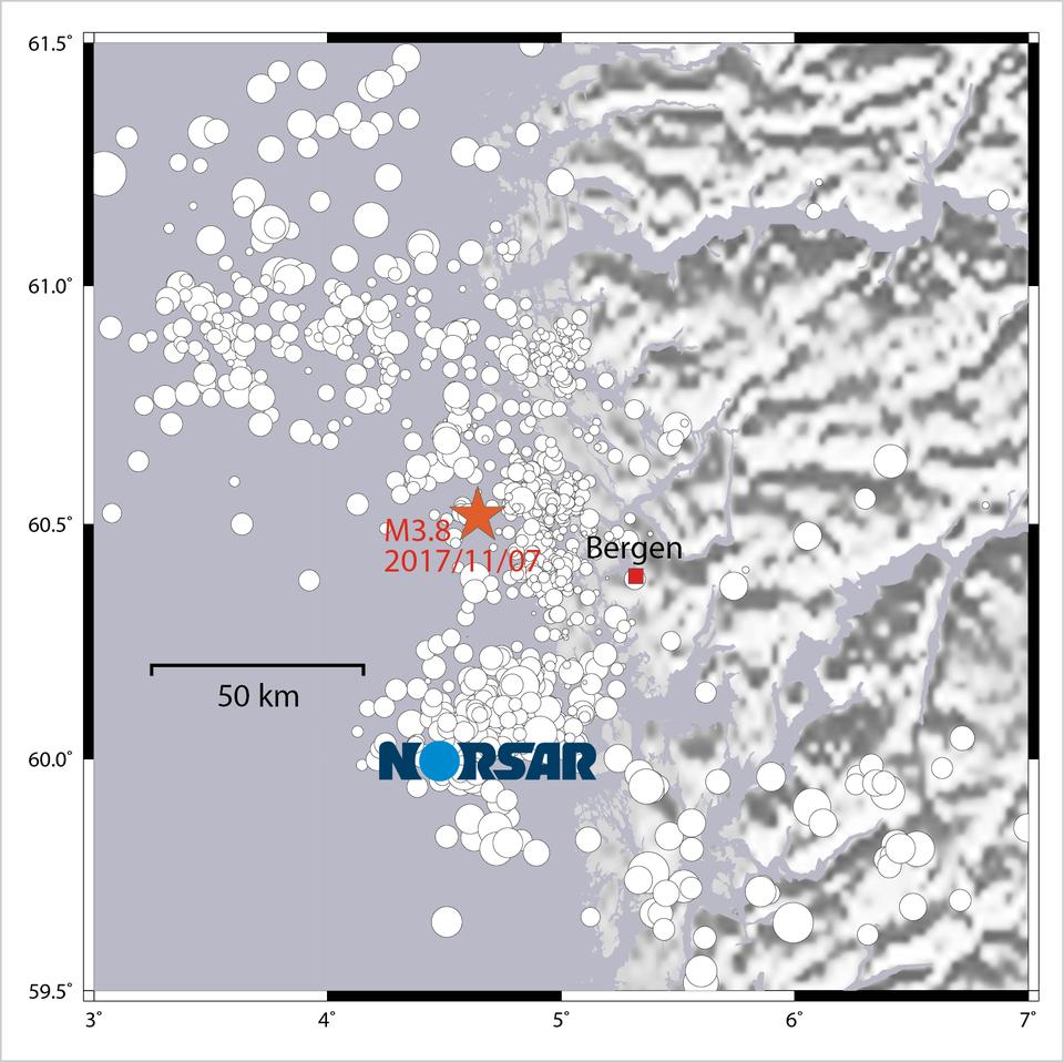 Jordskjelv i Bergen, 7. november 2017