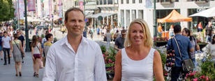 Volker Oye i Norsar og Liv Kari Skudal Hansteen i Rådgivende ingeniørers forening.