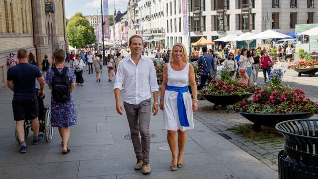 Volker Oye i Norsar og Liv Kari Skudal Hansteen i Rådgivende ingeniørers forening